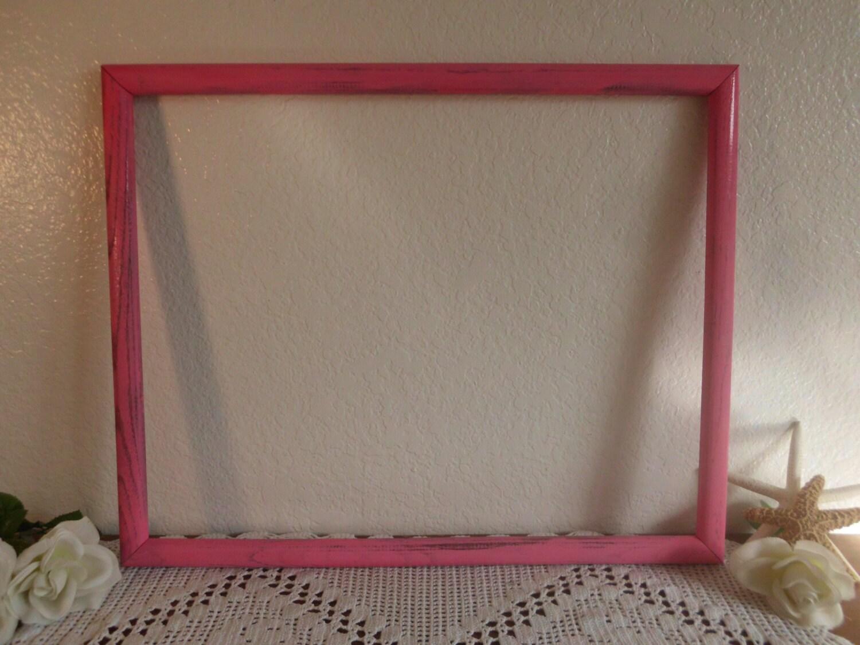 Marco rosa grande 16 x 20 cuadro foto Shabby Chic dificultades bebé ...