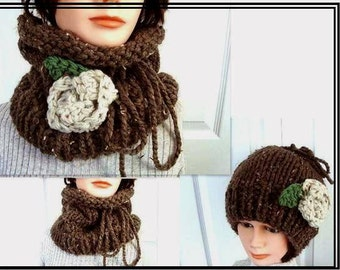 Knitting pattern - cowl or hat, convertible accessory, wear it as a hat or a cowl, handmade pattern, women clothing,   number 511