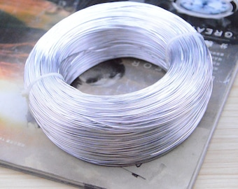 10m Silver aluminum wire, artistic wire, aluminum cord, beaded aluminum wire, threaded wire, Jewerly aluminum wire decoration 0.8mm