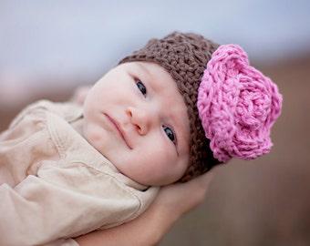 Girls hat, baby hat, girls winter hat, baby girls hat, crochet kids hat, newborn girl hat, baby girl winter hat, girls winter hat