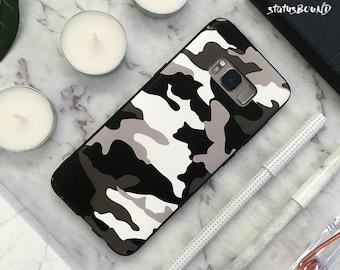 Camouflage Samsung Galaxy Case Galaxy Case Galaxy S8 Case Galaxy S8 Plus Case Galaxy S8+ Case Galaxy Note 8 Case Note8 Case Camo Green White