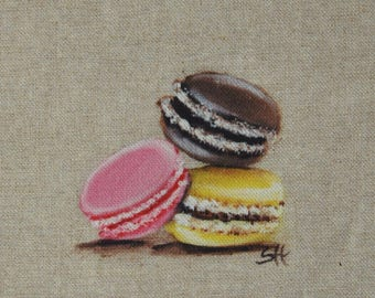 Coupon macarons illustration pattern for creating culinary piece