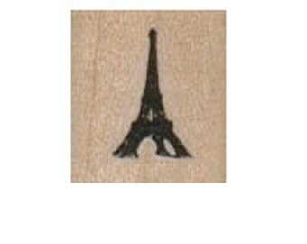 small Eiffel Tower rubber stamp,  cushioned stamp art and craft supplies   tateam  Item 2925  Paris France