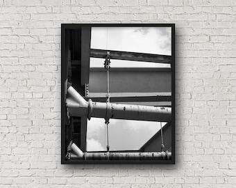 New York City Street Print / Digital Download / Fine-Art Print / Kunst / Home Decor / schwarz-weiß Fotografie / Reisefotografie