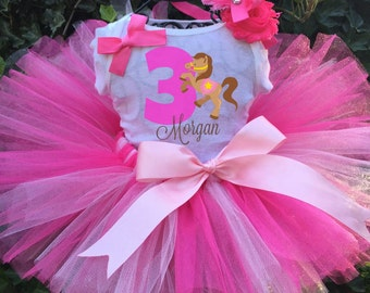 Horse Tutu Set - Cowgirl Birthday Outfit - Cowgirl Dress
