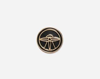 UFO Soft Enamel Lapel Pin - X-Files Inspired