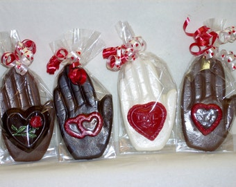 """Chocolate Heart in Hand """"you hold my heart in your hand"""""""