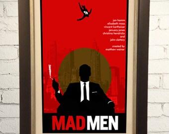 Mad Men Inspired Retro Art Print Poster  11x17