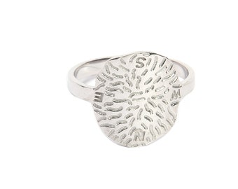 Handmade 925 sterling silver ring , unique design silver ring