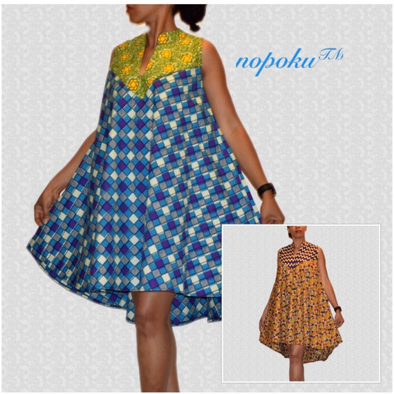 African Print Fancy Maternity Dresses: Items Similar To Hi Lo African Print Dresses, Sleeveless