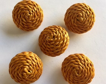 Coiled Rope Buttons - 5 Buttons