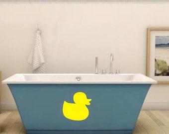 Rubber Duck Bathroom Wall Decal - Bathroom Wall Rubber Ducky - Bathroom Wall Decoration - Bathroom Wall Decals - Rubber Ducks