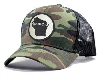 Homeland Tees Wisconsin Home Army Camo Trucker Hat