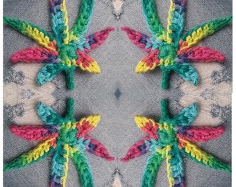 Crochet Cannabis Pot Weed Leaf
