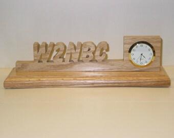 Desk Call Sign Clock