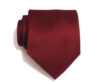 Mens Ties. Maroon Burgundy Stripes Men's Silk Tie