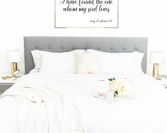 YOU PRINT PRINTABLE Wall Art - 20x30 Jpeg - I Have Found The One Whom My Soul Loves, Song of Solomon, Bedroom Decor