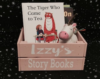 Personalised story books box crate,