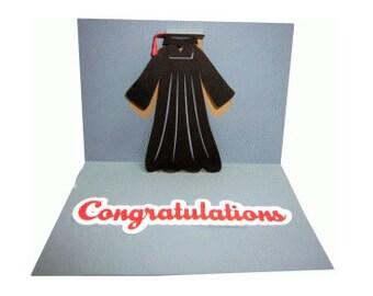 Congratulations Graduation Pop up Card , Heart , Friends , Family , Kids  , Blank inside , Students , School