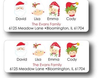 Return Address Labels | Christmas Return Address Labels | Christmas Family Sticker