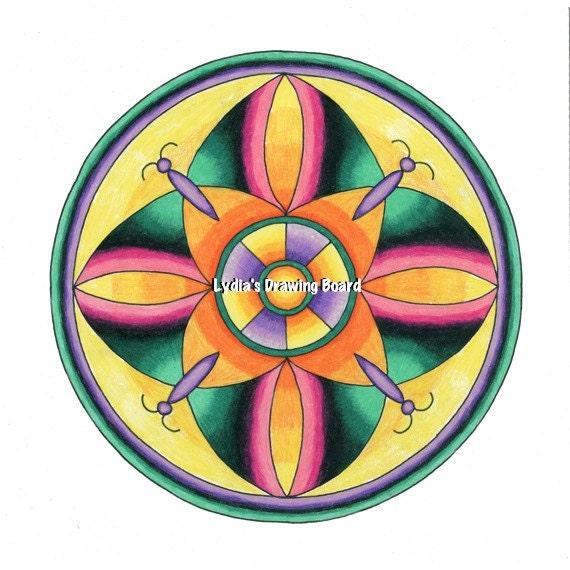 Mandala, Mandala Art, Mandala Wall Art, Mandala Print, Mandala Decor, Colorful Art, Mexican Blanket, Butterfly Art, Mexican Artwork, Artwork