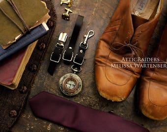 Bronze and Wood Pocket Watch , Pocketwatch Necklace , Pocketwatch Holder , Travel Gift , Travel Accessories , Destination Wedding Gift