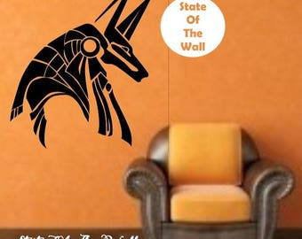 Egyptian God Anubis Vinyl Wall Decal Sticker Art Decor Bedroom Design Mural interior design ancient god egypt