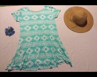 bohemian tshirt dress