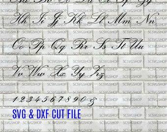 Script Font svg cut file, Fancy, Silhouette File, Cut File, SVG, DXF, Alphabet, DIY, Print, Calligraphy font, Wedding font, Digital download