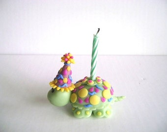 Kids Birthday Cake topper Children's Birthday Cake Decor Turtle Cake Topper Made-to-Order