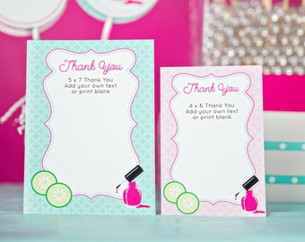 Spa Thank You Card INSTANT DOWNLOAD Printable Thank You Card - Spa Party Thank You Card by Printable Studio