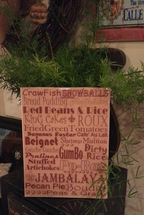 New Orleans Food Crawfish Cooking Subway Print Kitchen