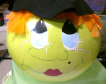 Handpainted Witch Gourd