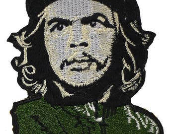 Patch embroidery, fusible, Che Guevara patch, 10.5 cm, customisation, sewing, garment