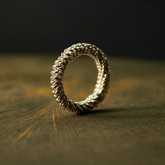 Sterling Silber Ring Draht gewickelt Ring Wire Wrap Ring