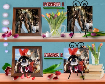 American Akita Dog Lovers Gift Dog Art Home Décor Ceramic Framed Tile or With Raised Black Easel by Nobility Dogs Ready to Hang Tile Frame