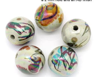 M* - Vintage Acrylic Beads, Different Shapes and Sizes, Drawbench (1331)