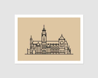 Print - Cathedral of Metz - pictogram