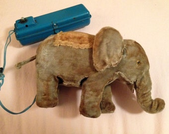 Antique Battery Operated Mechanical Toy Elephant