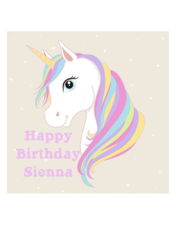Unicorn Edible Image Icing Sheet Unicorn Cake Topper From