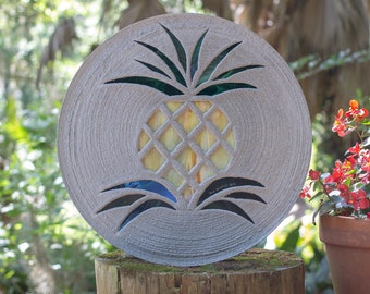 Pretty Pineapple Stepping Stone #848