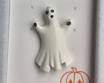 1960s-70s Vintage HALLOWEEN Pin GHOST Design
