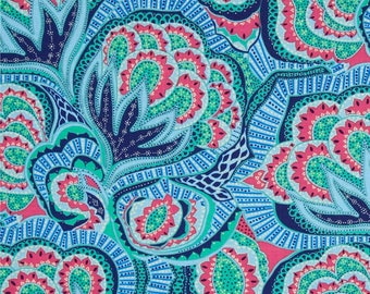 Hapi Oasis in Azure Color ~ Amy Butler Cotton Quilt Fabric