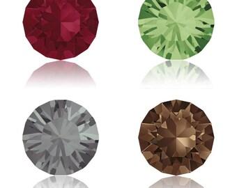 5, 10 or 20 rhinestones - Crystal Swarovski SS39 (1088) 8 mm - Ruby (red), peridot (green), silver night (gray) smojed topaz (Brown)