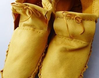 Taille adulte cuir mocassins hommes 10, regalia, chaussure de maison, chaussures de danse, mocassin plaines, pow-wow, chaussures de danse, chaussures de la maison