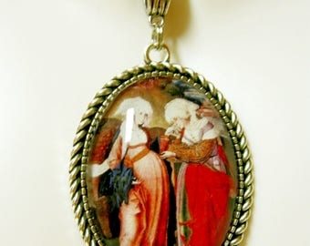 Visitation of pregnant Mary pendant and chain - AP09-129