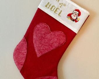 Christmas red embroidered father Treeand boot 1st Christmas