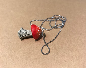 mushroom necklace