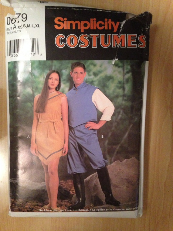 Simplicity Sewing Pattern 0679 Adult and Teens Pocahontas and John ...