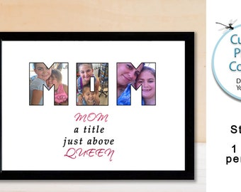 Mom Gift Custom Photo Collage Print, Personal Letter Photo Collage for Mothers Day Gift